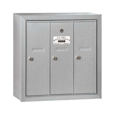 Aluminum Surface-Mounted USPS Access Vertical Mailbox with 3 Door