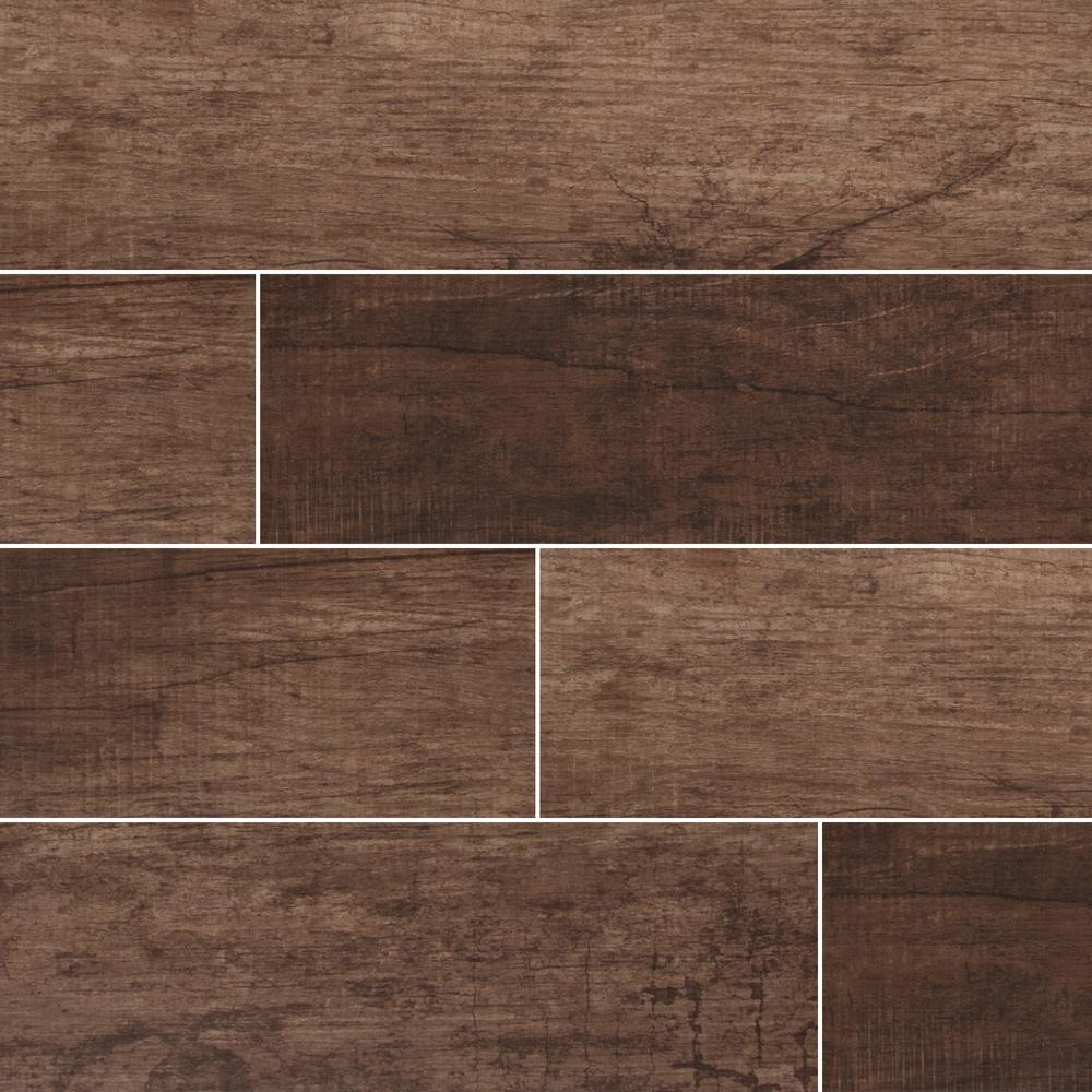 Msi Vogue Mocha 6 In X 24 In Matte Porcelain Floor And Wall Tile 14 Sq Ft Case Nhdvogmoc6x24 The Home Depot