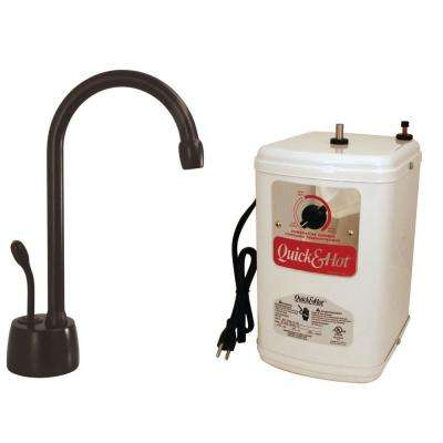Velosah Single-Handle Hot Water Dispenser Faucet with Hot Water Tank in Oil-Rubbed Bronze