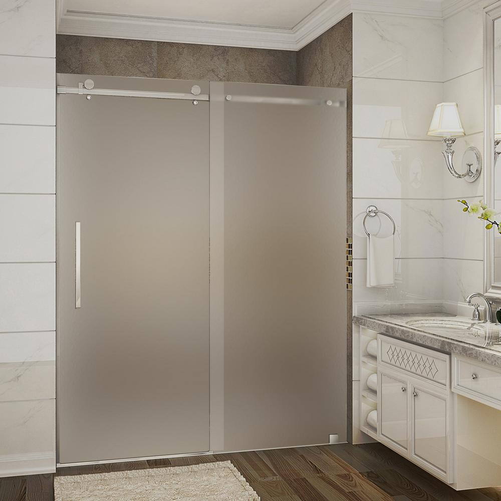 Bathroom Sliding Glass Doors: Aston Moselle 56 In. To 60 In. X 75 In. Completely