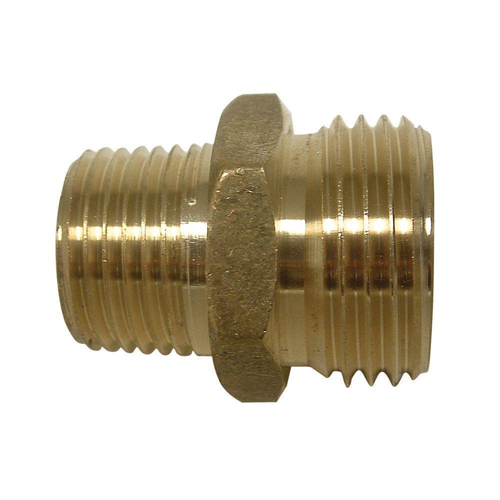 Everbilt 3/4 in. MHT x 1/2 in. MIP Lead-Free Brass Garden Hose ...