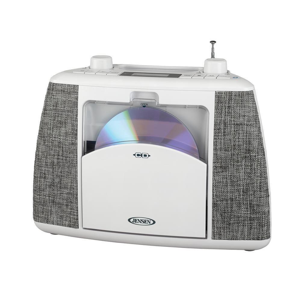 Portable Bluetooth CD Music System with FM Radio