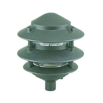 1-Light Emerald Green Landscape Path Fixture