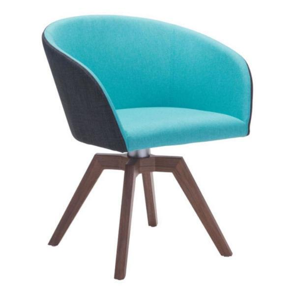Julia  Blue/Gray Polyester Dining Chair (Set of 2)