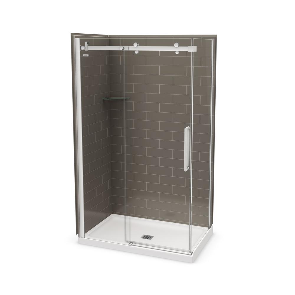 Utile by MAAX 32 in. x 48 in. x 83.5 in. Corner Shower Kit in ...
