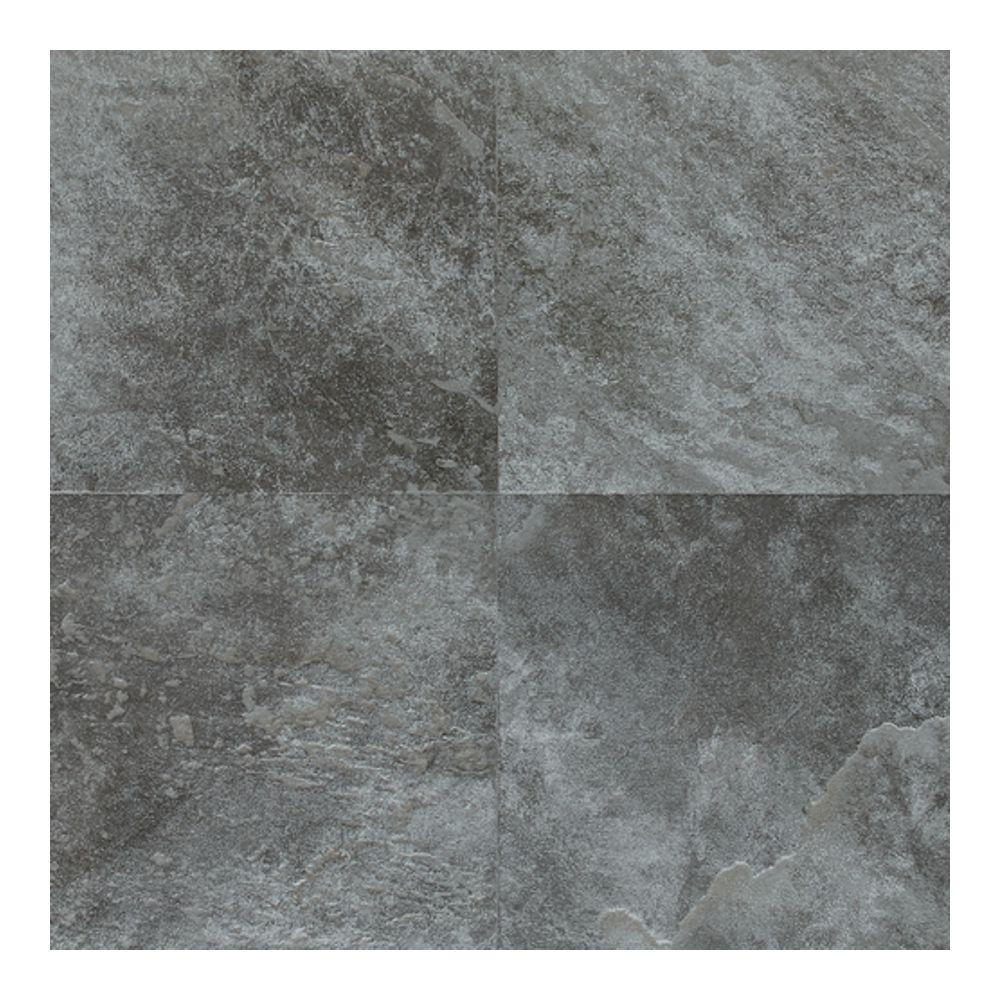 Daltile Continental Slate English Grey 18 In X Porcelain Floor And Wall