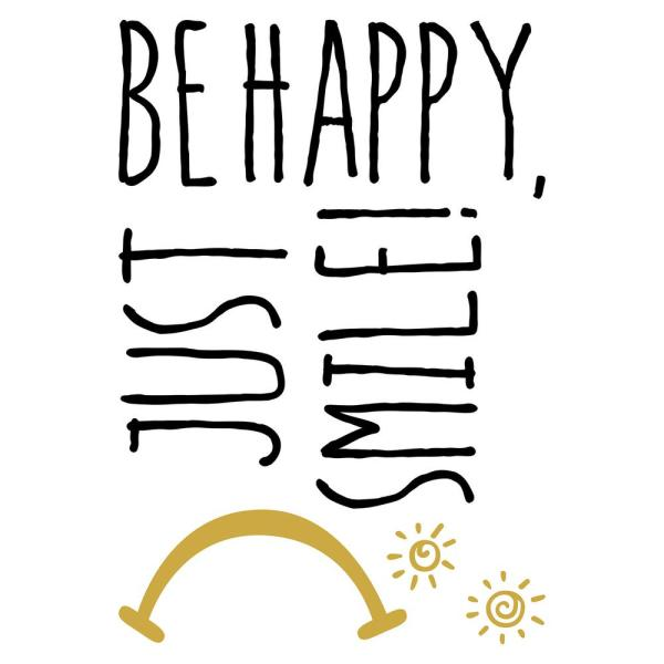 Brewster Metal Smile Wall Quote Decal CR-62312
