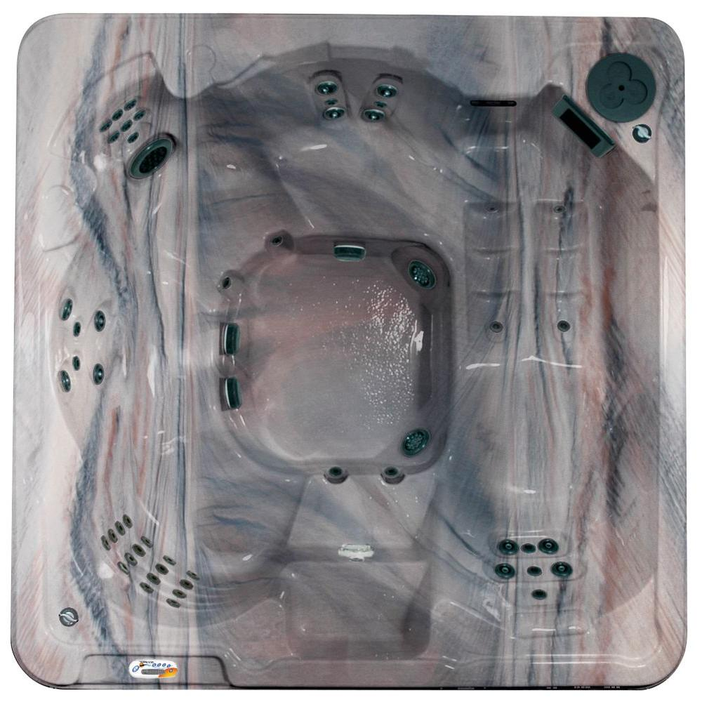 QCA Spas Cantania 6-Person 70-Jet Spa with Bromine System, LED Light, Polar Insulation, Collar Jets, and Hard Cover