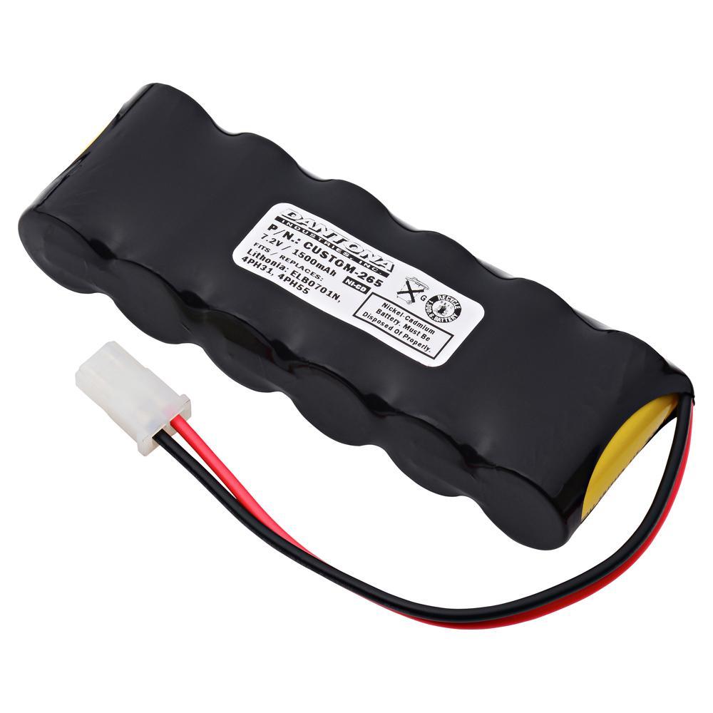 Dantona 7.2-Volt 1500 mAh Ni-Cd battery for Mcphilben - ER30VLBAT7.2V Emergency Lighting