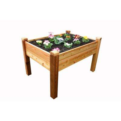 4 ft. x 3 ft. Cedar Elevated Garden Bed
