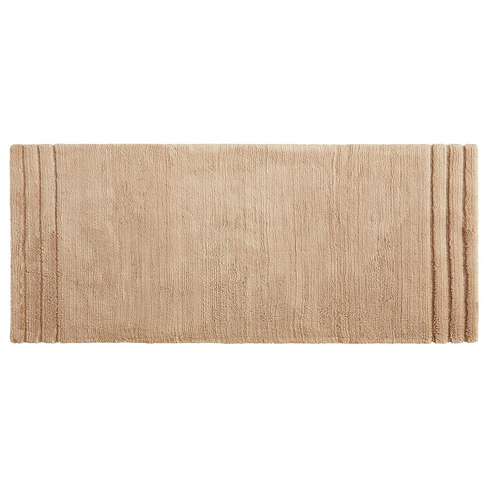 MOHAWKHOME Mohawk Home Empress 24 in. x 60 in. Cotton Runner Bath Rug in Barley, Tan