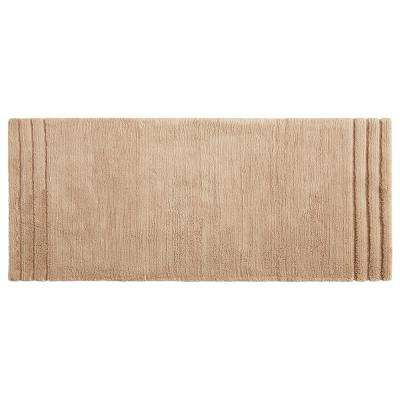 Empress 24 in. x 60 in. Cotton Runner Bath Rug in Barley