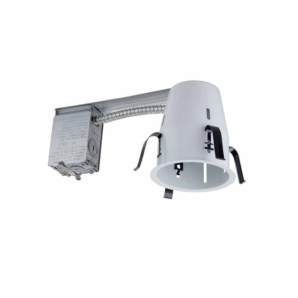 pretty nice 87655 5bf75 Commercial Electric 4 in. White Recessed Non-IC Remodel Housing