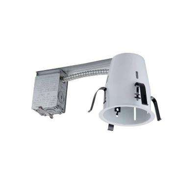 4 in. White Recessed Non-IC Remodel Housing
