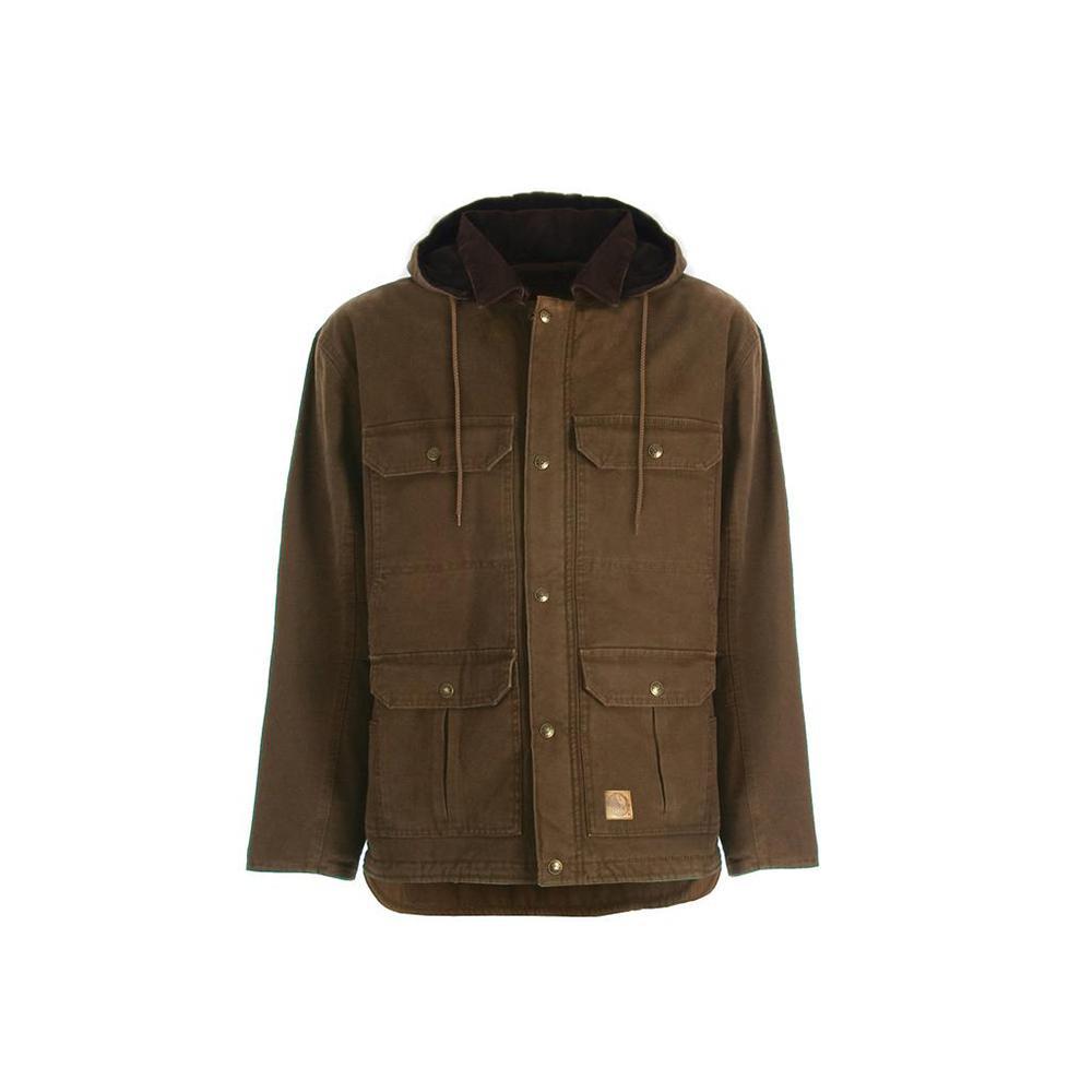 5a9ea2de2e6 Berne Men s 4 XL Regular Bark 100% Cotton Washed Contractor Coat
