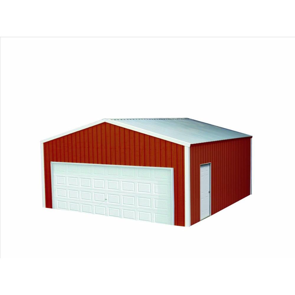 Versatube 20 ft x 30 ft x 10 ft garage vs2203010516rw for 30 by 30 garage cost