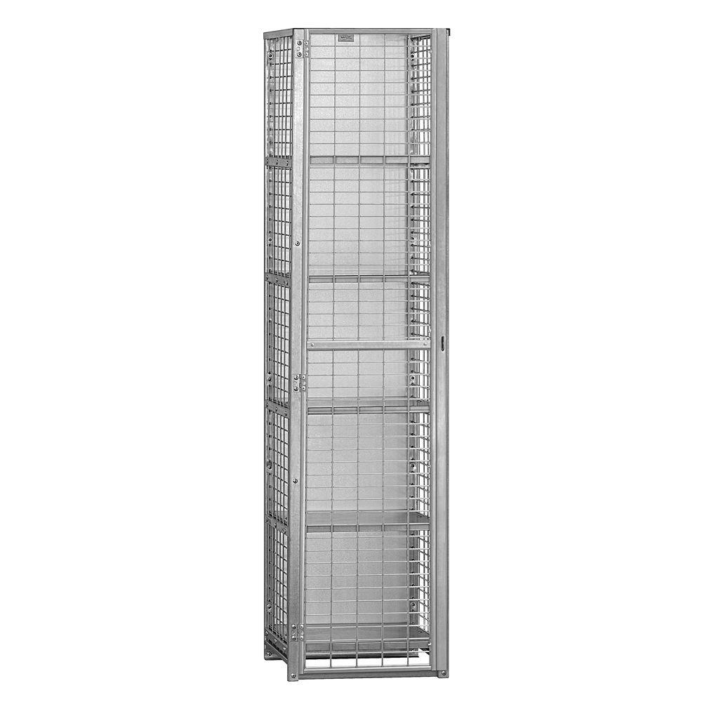 Salsbury Industries 8400 Series 18 in. W x 72 in. H x 18 in. D 5-Compartment Security Storage Locker Unassembled in Aluminum