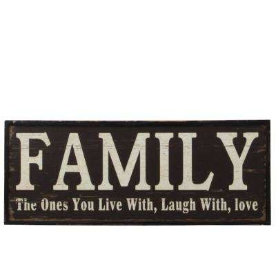"6.50 in. x 17.50 in. ""Family"" Printed Wall Art"