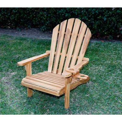 Redondo Teak Wood Adirondack Chair and Cup Holder