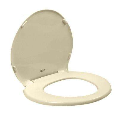 Champion Round Slow Closed Front Toilet Seat with Cover in Bone