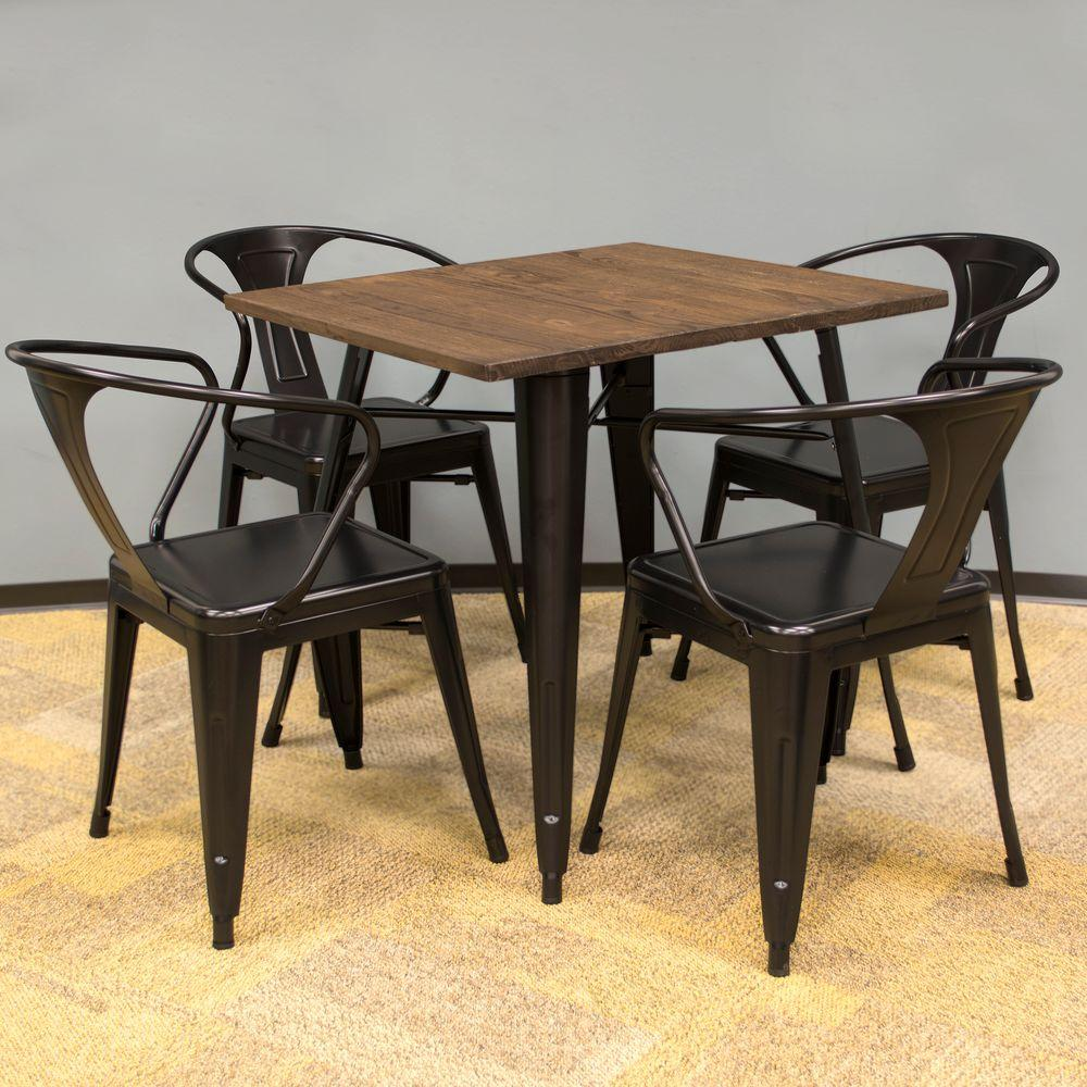 Loft Style 32 in. x 32 in. Dining Table Set in