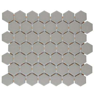 Restore Matte Natural Gray Hexagon 10 in. x 12 in. x 6mm Glazed Ceramic Mosaic Tile (0.81 sq. ft.)