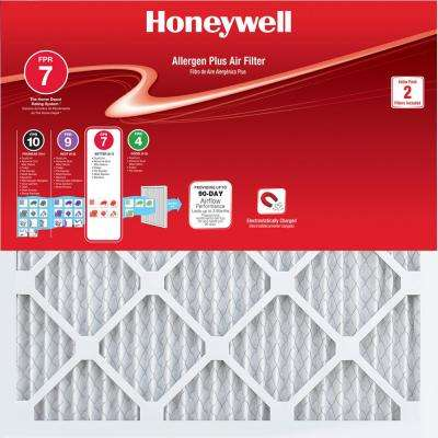 16 in. x 25 in. x 1 in. Allergen Plus Pleated FPR 7 Air Filter (2-Pack)