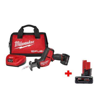 M12 FUEL 12-Volt Lithium-Ion Brushless Cordless HACKZALL Reciprocating Saw Kit W/ Free 6.0Ah Battery