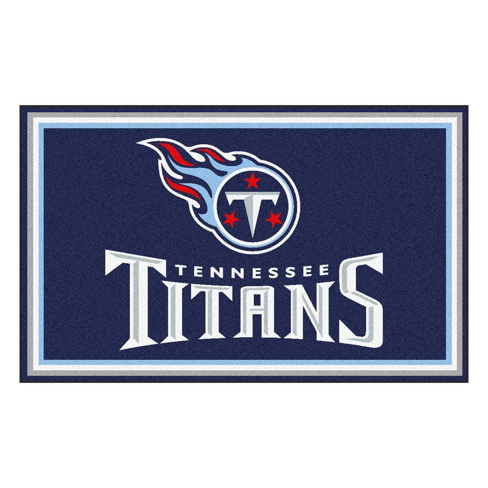 Fanmats Tennessee Titans 4 Ft X 6 Ft Area Rug 6611 The