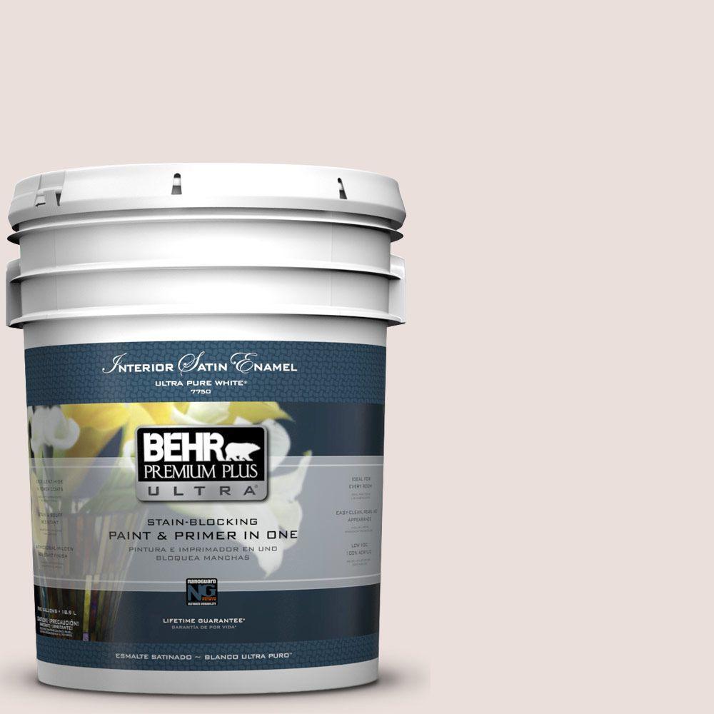 BEHR Premium Plus Ultra 5-gal. #N160-1 Cameo Stone Satin Enamel Interior Paint