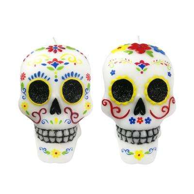 5 in. H Sugar Skull Candle
