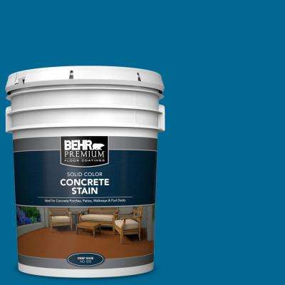 5 gal. #OSHA-1 OSHA SAFETY BLUE Solid Color Flat Interior/Exterior Concrete Stain
