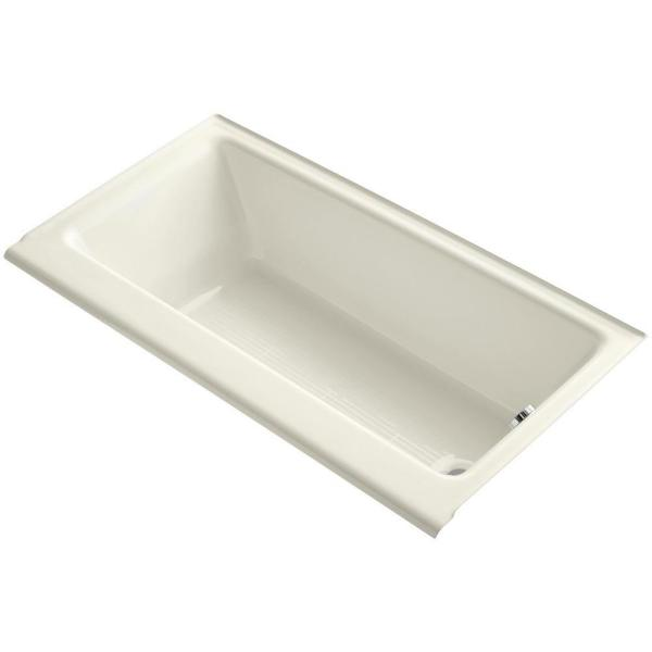 Highbridge 5 ft. Rectangle Right-Hand Drain Soaking Tub in Biscuit