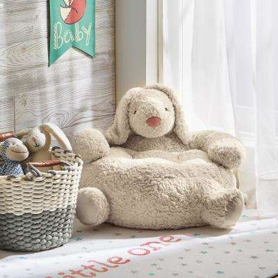 Bunny 1-Piece Ivory Corduroy Plush Chair