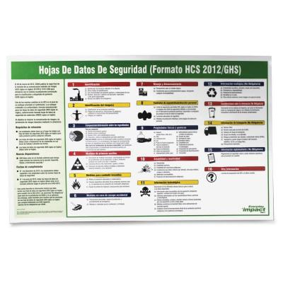 Safety Data Sheet Spanish Poster