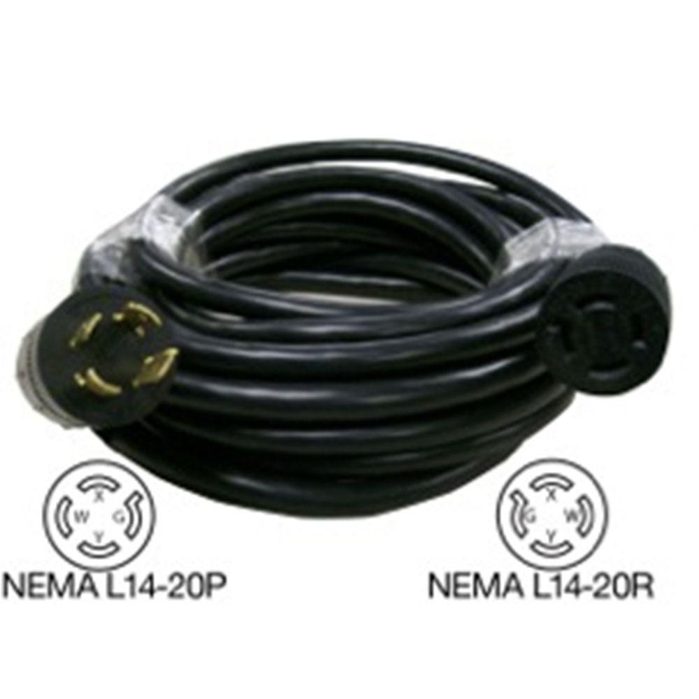 Rodale 25 ft. Generator 20 Amp 4-Prong Extension Cord