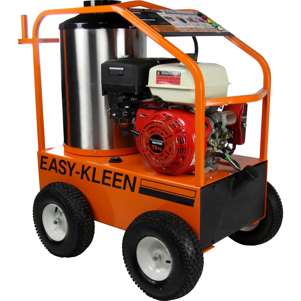 Commercial 4000 PSI 3.5 GPM Gas Driven Hot Water Pressure Washer