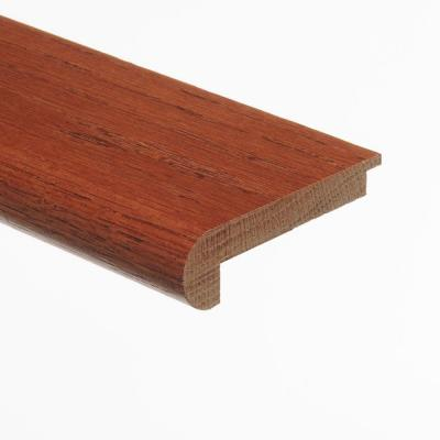 Oak Gunstock 3/8 in. Thick x 2-3/4 in. Wide x 94 in. Length Hardwood Stair Nose Molding Flush
