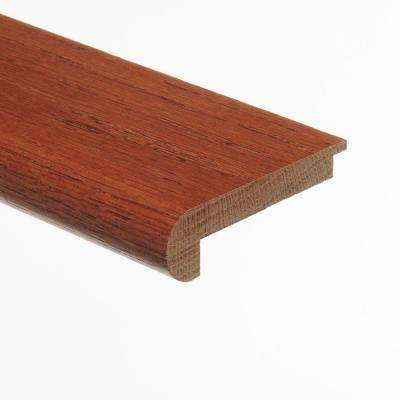 Oak Gunstock 3/8 in. Thick x 2-3/4 in. Wide x 94 in. Length Hardwood Stair Nose Molding