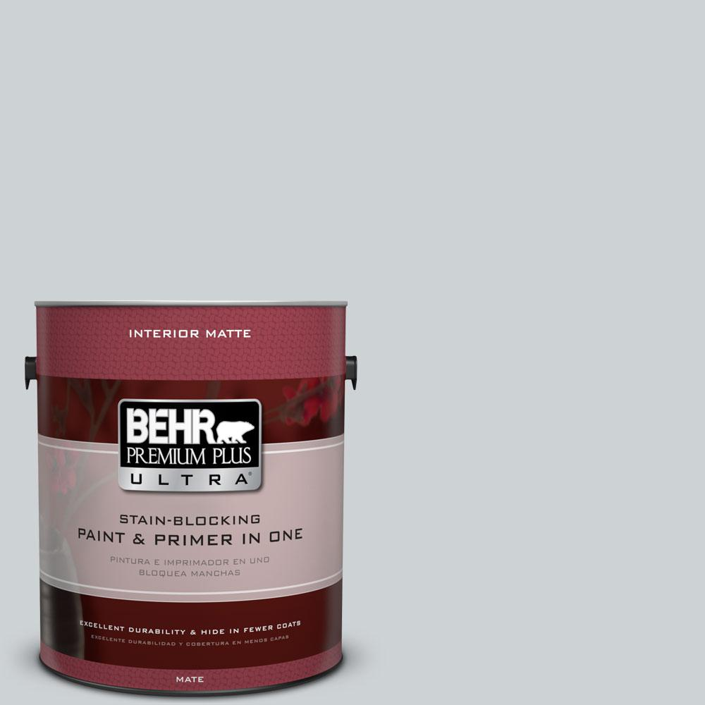 1 gal. #N510-1 Silver Shadow Matte Interior Paint