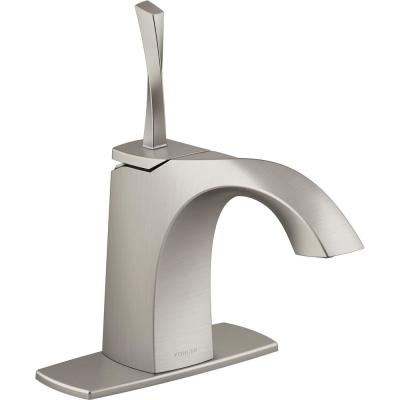 Juval Single Hole Single-Handle Bathroom Faucet in Vibrant Brushed Nickel