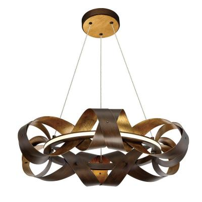 Banderia Collection 30-Watt Small Bronze Integrated LED Chandelier