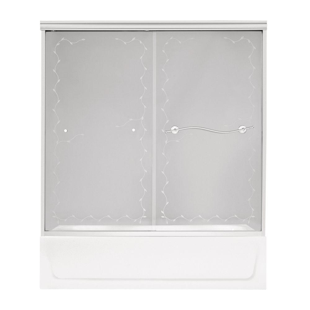 MAAX Noble 59-1/2 in. x 57-5/8 in. Bypass Tub/Shower Door in Chrome