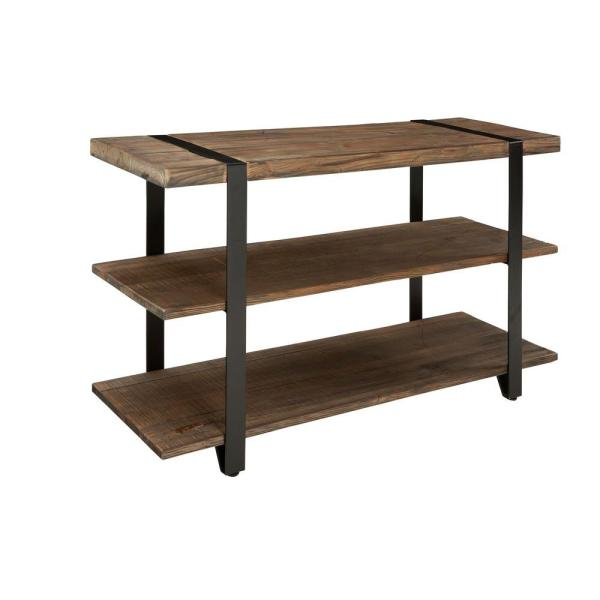 Modesto 48 in. Rustic/Natural Standard Rectangle Wood Console Table with Storage