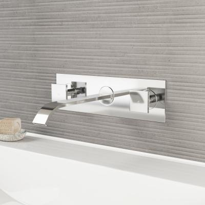 Titus 2-Handle Wall Mount Bathroom Faucet in Chrome