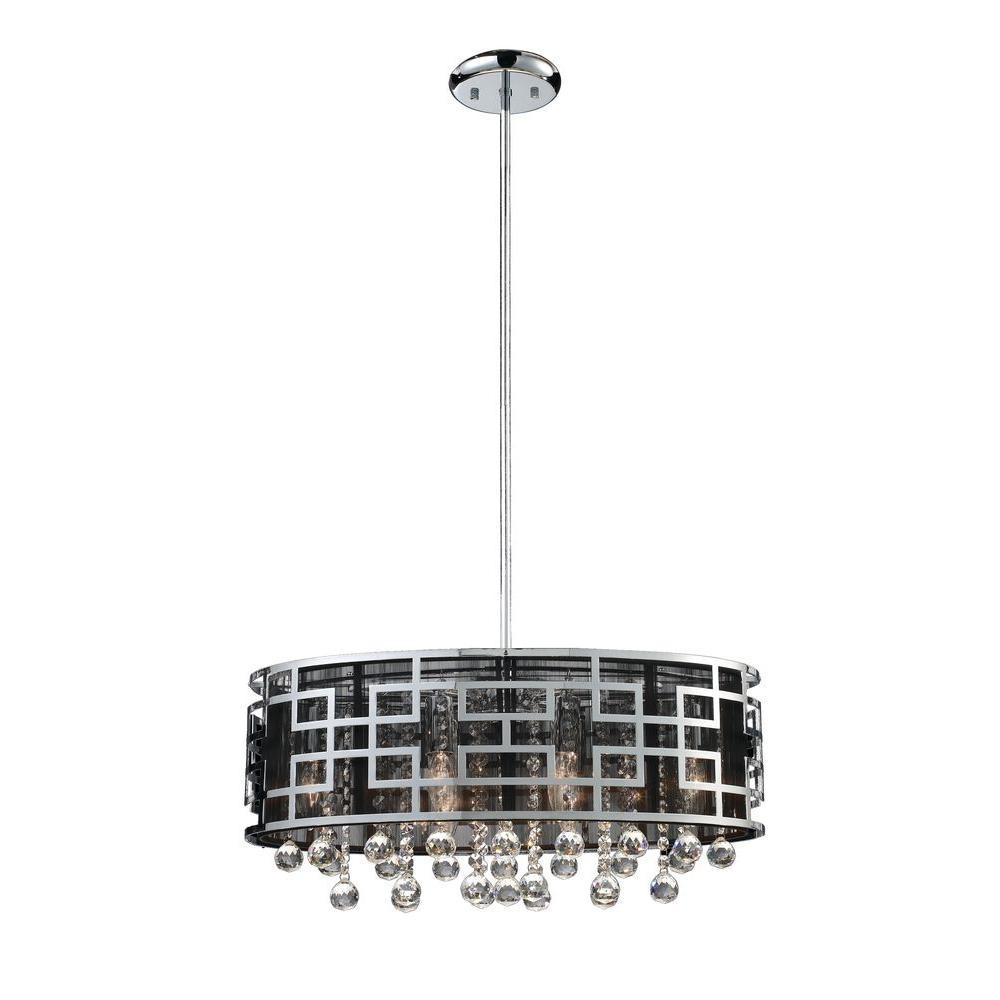 Filament Design Lawrence 6-Light Chrome Incandescent Ceiling Chandelier