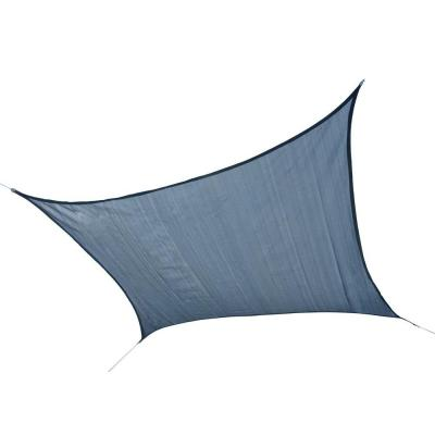 12 ft. W x 12 ft. L Square Heavy-Weight Sun Shade Sail in Sea Blue (Poles Not Included) with Breathable Fabric
