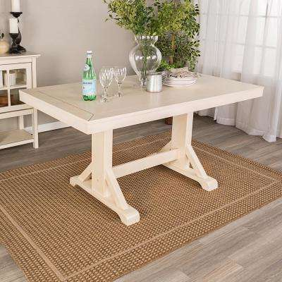 Antique White 60 in. Millwright Wood Dining Table