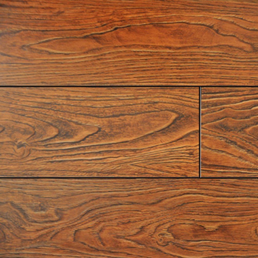 Cinnamon Color Laminate Flooring - 6-1/2 in. Wide x 3 in. Length Take Home Sample