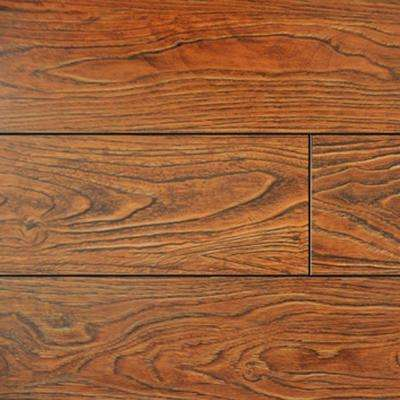 Cinnamon Color Laminate Flooring - 6-1/2 in. Wide x 3 in. Length Take Home Sample